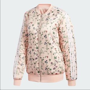 adidas Jackets & Coats - Adidas Satin Floral Bomber